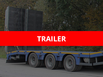 Flatbed trailer unloaded