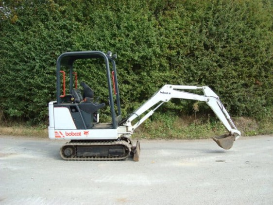 Used Bobcat digger extended arm