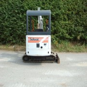 Used Bobcat digger for sale in action