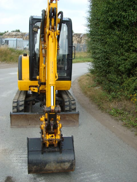 Used JCB digger front view
