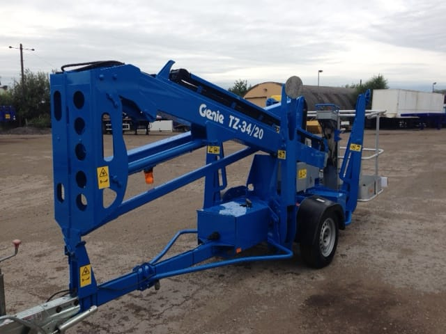 Used blue Genie lift with towing capability