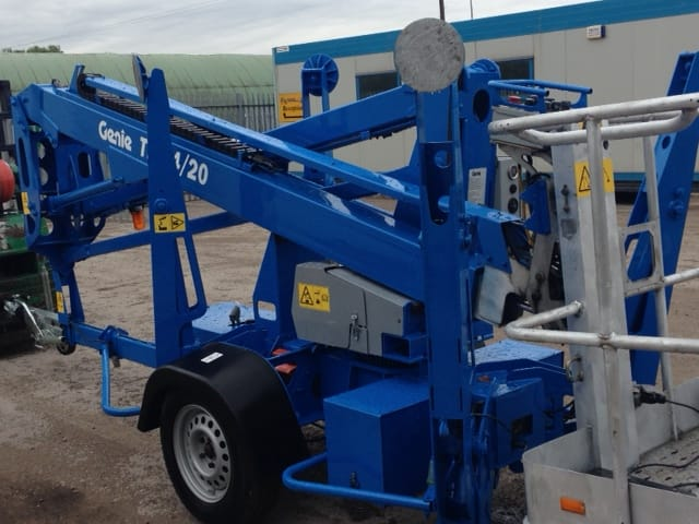 Used Genie lift for sale in lowered position