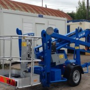 Genie lift in lowered position