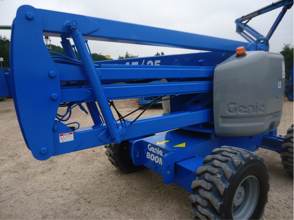 Blue Genie lift in lowered position side view